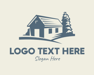 Vintage - Vintage Blue Farmhouse logo design