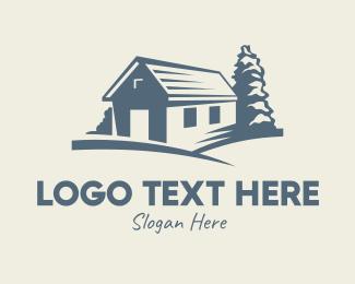 Dairy Farmer - Vintage Farmhouse Cabin logo design