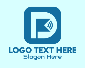 Hotspot - Wifi Application Letter D logo design