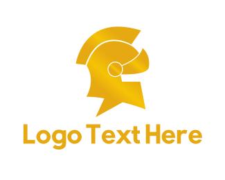 Helmet - Gold Helmet logo design