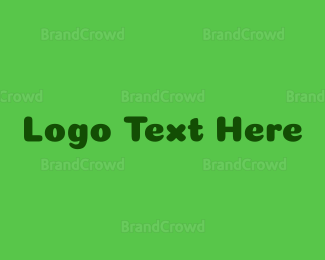 Friend - Green Friendly Wordmark logo design