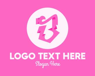 Beauty Parlour - Pink Boutique Letter B logo design
