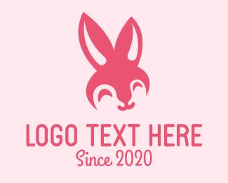 Pink Bunny Rabbit Logo Maker