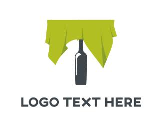 Bartender - Bottle Table logo design