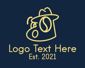 Detective - Detective Coffeehouse Mascot logo design