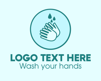 Covid19 - Clean Wash Hands logo design