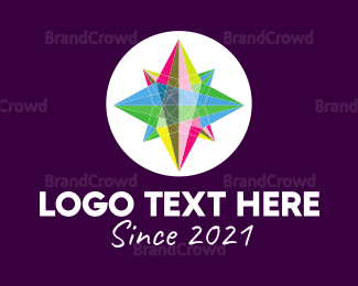 Exhibition - Colorful Crystal Star logo design