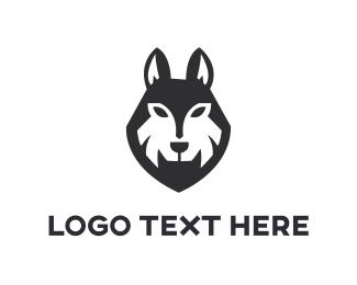 Puppy - Black Wolf logo design