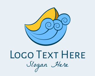 Row - Ocean Fisherman Boat logo design