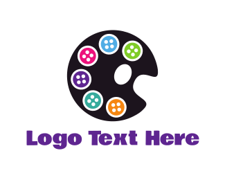 Button - Button Palette logo design
