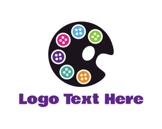 Seamstress - Button Palette logo design