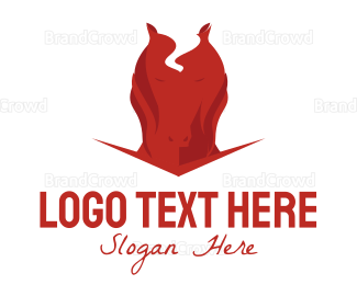 Horse - Horse Flames logo design