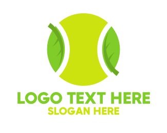 Tennis Coach - Eco Friendly Tennis Ball logo design