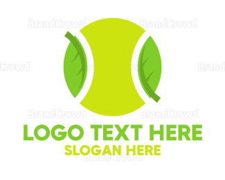 Badminton - Eco Friendly Tennis Ball logo design