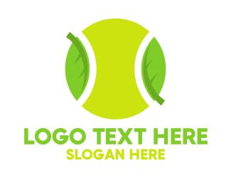 Tennis - Eco Friendly Tennis Ball logo design