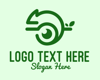 Newt - Green Chameleon Media logo design