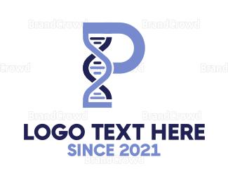 Pharmaceutic - Chemical Letter P logo design