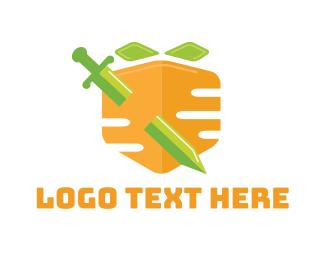 Carrot - Carrot Shield logo design