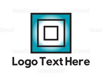 Framing - Blue Squares logo design