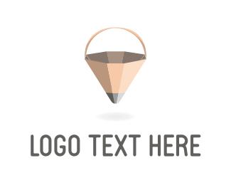 Basket - Pencil Basket logo design
