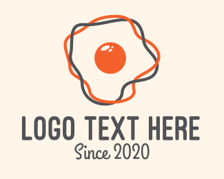 Brunch - Modern Egg logo design