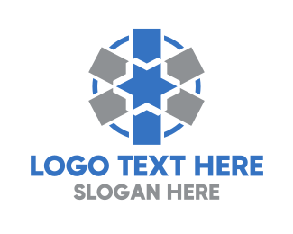Medical - Blue Medical Asterisk logo design