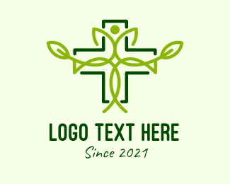 Natural Medicine - Green Herbal Medicine  logo design