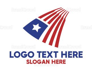 American Flag - Liberian Flag logo design