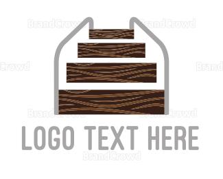 Carpenter - Wood Stairs logo design
