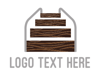 Wooden - Wood Stairs logo design