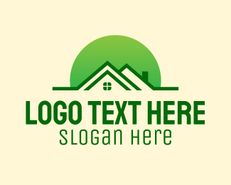 Roofing - Green House Realtor logo design