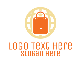 Shopping Business - Global Shopping Bag logo design
