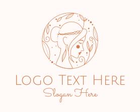 Maiden - Pretty Woman Outline logo design