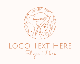 Outline - Pretty Woman Outline  logo design