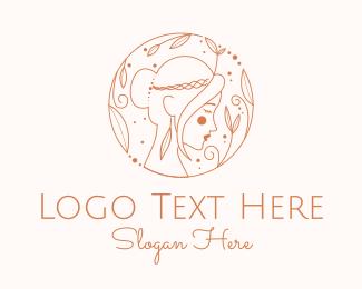 Pretty - Pretty Woman Outline logo design
