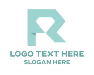Letter R - Riamond Letter R logo design