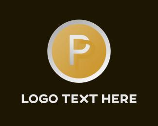 Letter P - Circle & Letter P  logo design