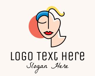 Facelift - Abstract Art Face Woman logo design
