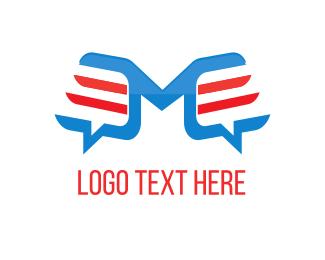 Social Media - Letter M Chat logo design