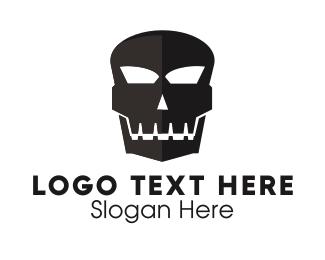 Cranium - Black Skull logo design