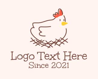 Poultry - Chicken Hen Poultry logo design