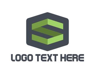 San Antonio - Geometric Letter S logo design