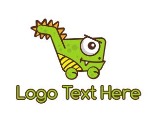 Shopify - Dino Shop logo design