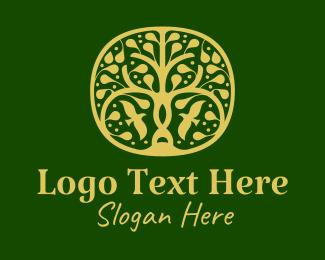 Spa - Gold Tree Spa  logo design