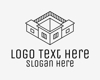 House - House Architecture logo design