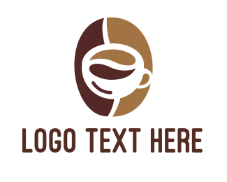 Coffee Maker - Minimalist Coffee Bean Mug logo design