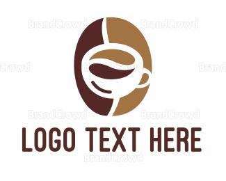 Barista - Minimalist Coffee Bean Mug logo design