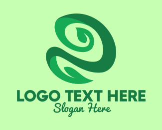 Vine - Green Leaf Vine logo design