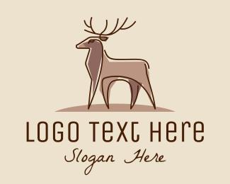 Doe - Brown Elegant Stag logo design