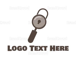 Search - Search Padlock logo design